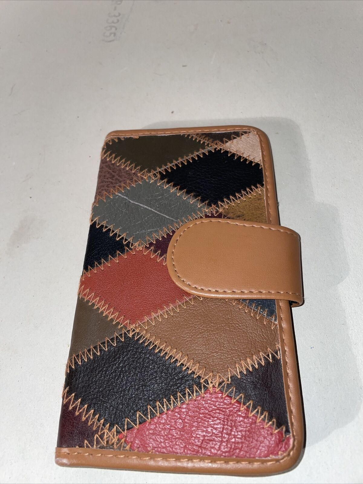 patchwork leather wallet