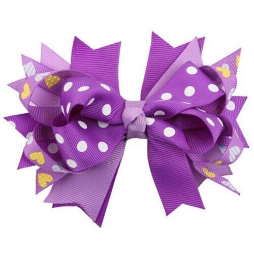 1Pcs Girls Kids Grosgrain Hair Bow Alligator Clips Headwear Hair Accessories CB