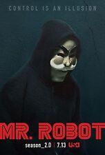 Mr. Robot Season 2 TV Poster (24x36) - Rami Malek, Christian Slater f society v2