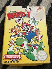 Mario and Yoshi Nintendo NES Game Boxed PAL Cartridge and sleeve
