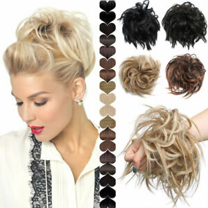 Messy-Blonde-Bun-Updo-Curly-Hairpiece-Real-Scrunchy-As-Human-Hair-Extensions-MXT