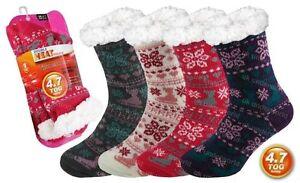 Girls-Thermal-Socks-Childrens-4-7-Tog-Fleece-Sherpa-Lining-Gripper-Slipper-Sole