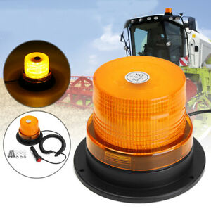 32-LED-BEACON-MAGNETICO-EMERGENZA-ROTANTE-STROBO-LAMPEGGIANTE-LUCE-AMBRA