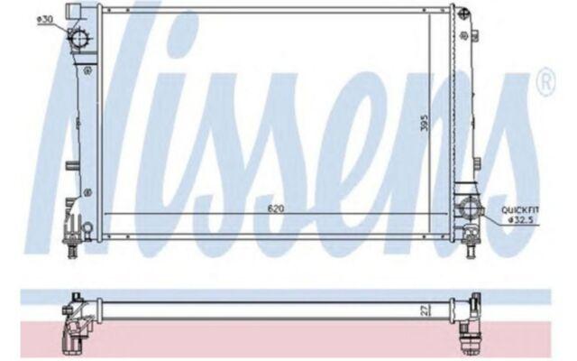 NISSENS Radiador, refrigeración del motor FIAT 500 617863
