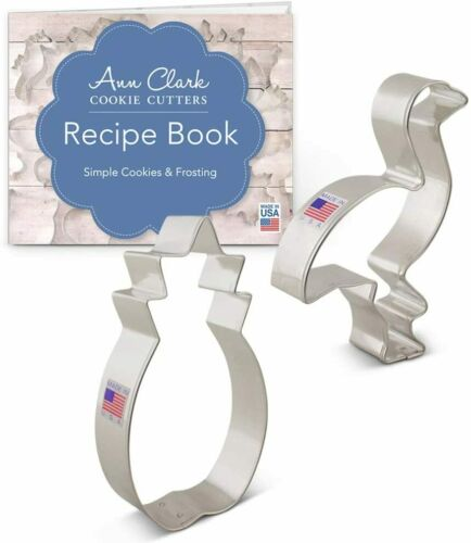 Tropical Cookie Cutter Set Ann Clark Pineapple /& Flamingo