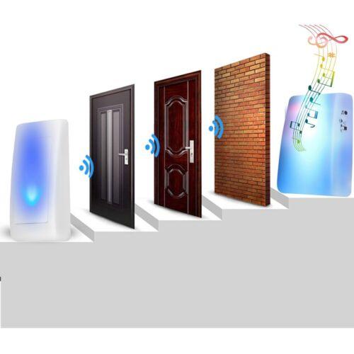7Farbe 16 Musik Funk Tuerklingel Wireless Doorbell Klingel Empfaenger Sender