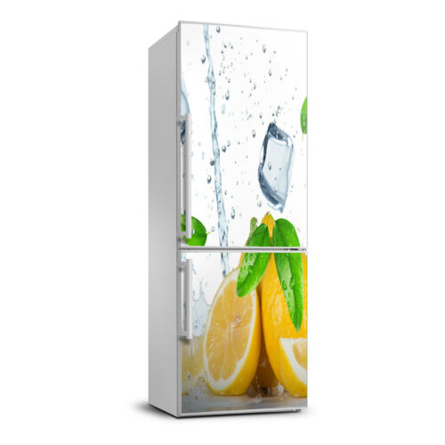 3D  Fridge Wall Self Adhesive Removable Sticker Decal Food Lemon and ice