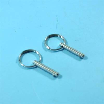 """Bimini Top 2 piece Boat 3//16/"""" Stainless Steel Quick Release Pins Kayak"""