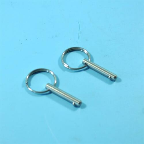 """Bimini Top 2 piece 3//16/"""" Stainless Steel Quick Release Pins Kayak Boat"""