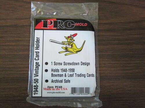 5 Ct Pro-Mold PC48 1948-1950 Bowman Baseball Trading Card 1-Screw Holder