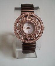 Designer Style Woman stretchy Rose Gold (Bronze) finish stone  Fashion  watch
