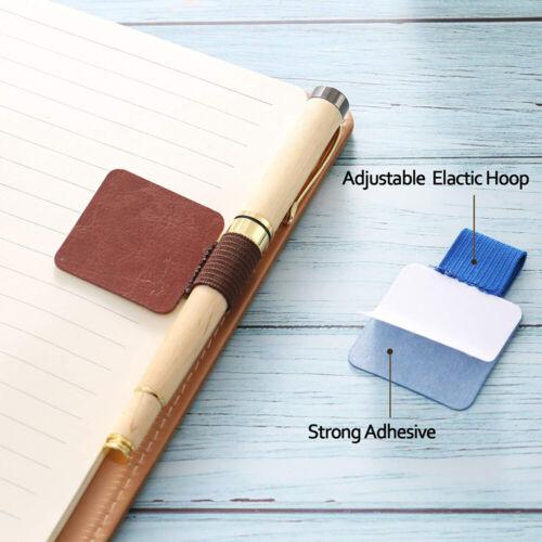 Stifthalter für Notizbücher Stiftschlaufe 9 Farben, Selbstklebend Pen Loop