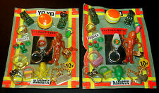 COLORFORMS OUTER SPACE MEN PAIR OF GUMBALL VENDING MACHINE CARDED MOEC JIGGLERS