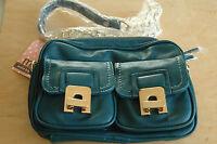 Melie Bianco Sonia Chain Messenger/ Crossbody Bag In Peacock