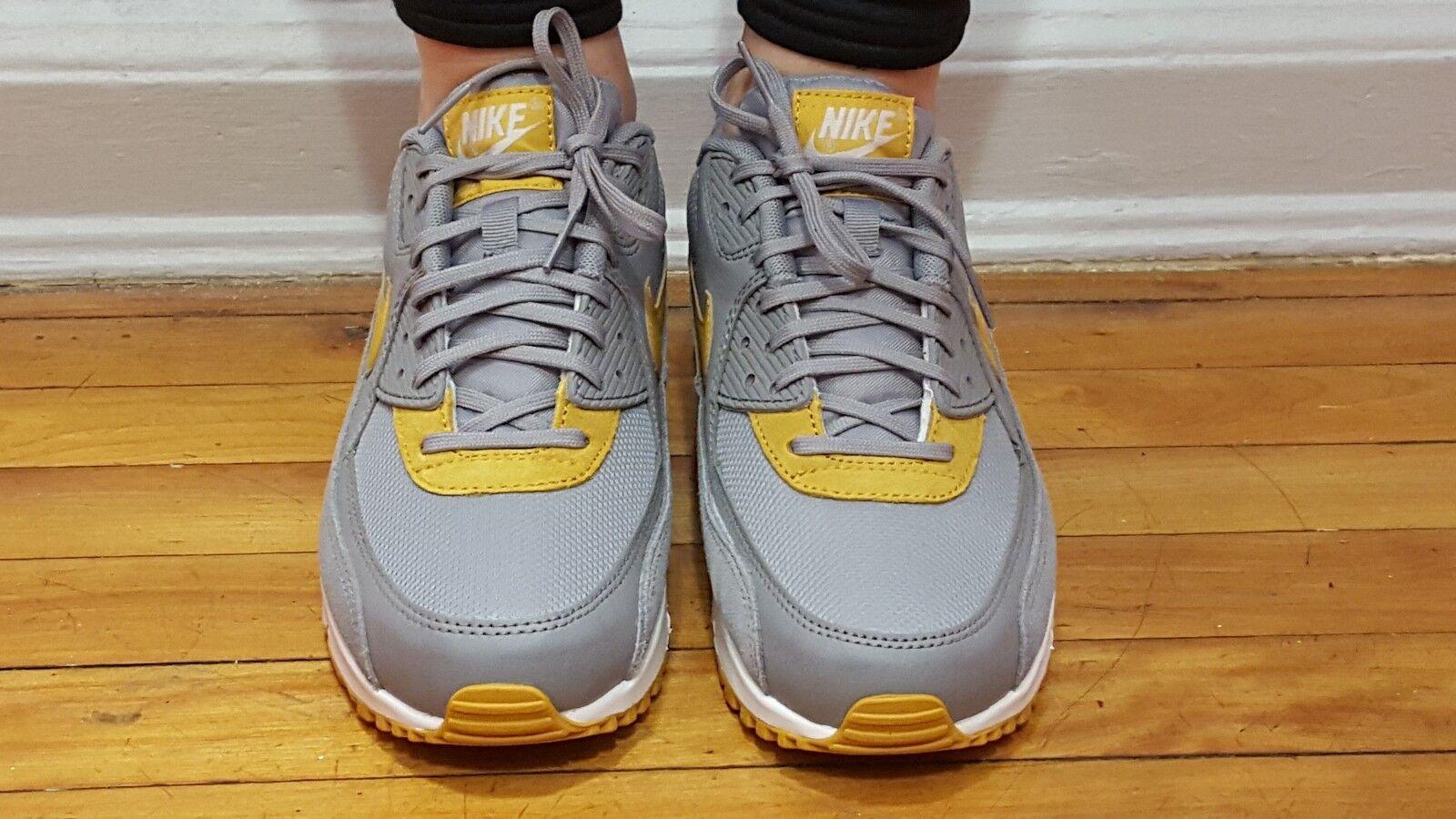 Nike Air Max 90 Stealth gold Dart-White 325213-039 Wmn Sz Sz Sz 9.5 8d6f3a