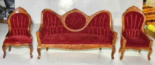 CONCORD VICTORIAN LIVING ROOM #6272 DOLL HOUSE FURNITURE MINIATURES