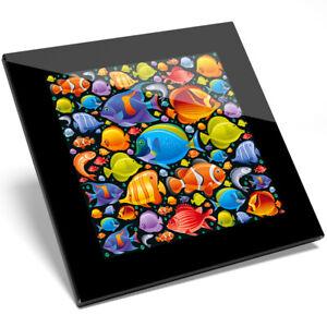 1 X Coloré Poissons Tropicaux Verre Coaster-cuisine étudiant Qualité Cadeau #8333-afficher Le Titre D'origine ModéLisation Durable