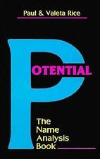 New, Potential: The Name Analysis Book, Paul Rice, Valeta Rice, Book