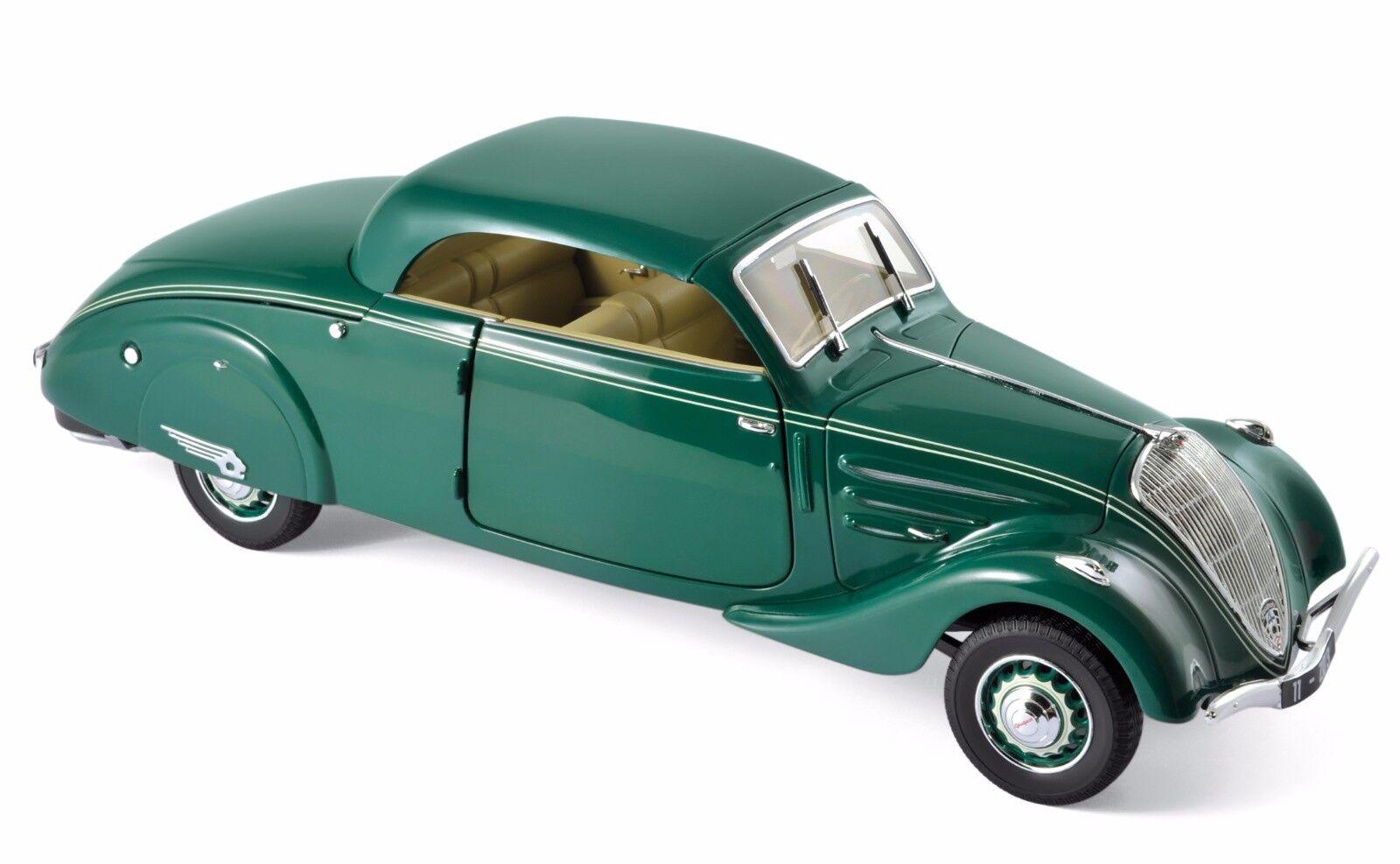 Norev Peugeot 402 Eclipse 1937 1 18 dark vert