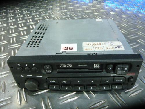Philips Car 400 Autoradio Kassettenradio