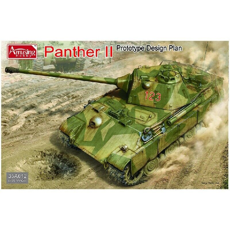 Amusing Hobby 35A012 WWII 1 35 Model Kit Tank - Panther II Predotype Design Plan