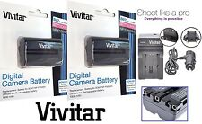 2Pc NP-FM500H Li-Ion Battery With Charger For Sony Alpha A77 II M2 A99 A100 A200