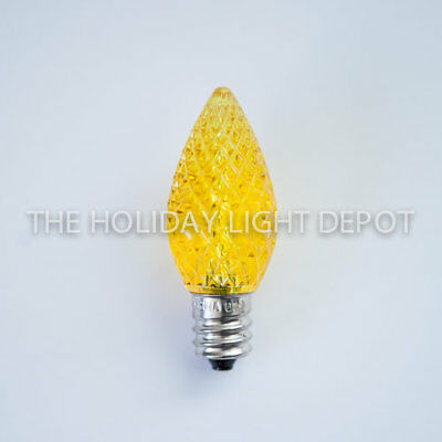 Dimmable FACETED Finish Orange C7 Bulb Orange C7 LED Bulb