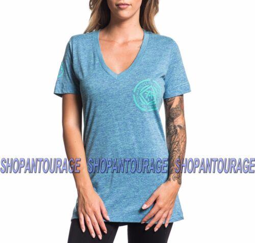 Fw3257 shirt V Damen sky Averett Neues American Fighter Affliction ausschnitt By Mit Top t 0qwTEzFf