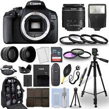 Cámara SLR Canon EOS 2000D Rebel T7 D +/Lente 18-55mm + Paquete de accesorios de 30 piezas