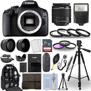 Canon EOS 2000D / Rebel T7 DSLR Camera + 18-55mm Lens+ 30 Piece Accessory Bundle