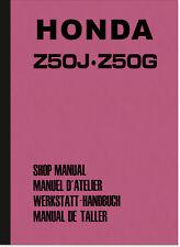 Honda Monkey Z50J Z50G Reparaturanleitung Montageanleitung Werkstatthandbuch Z50