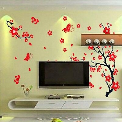 Warm Blossom Flowers Tree Removable Wall Stickers Decal Home/Hotel Decor New