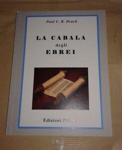 La-Cabala-degli-Ebrei-Autore-Paul-L-B-Drach-Edizioni-Pizeta-Libro-Nuovo