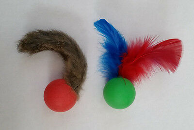 Go Cat Pong Fur, Pong Feather or Pong Fur & Feather Combo Cat Toy 2 pack