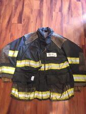 Firefighter Cairns Turnout Bunker Coat 48x32 Black Halloween Costume