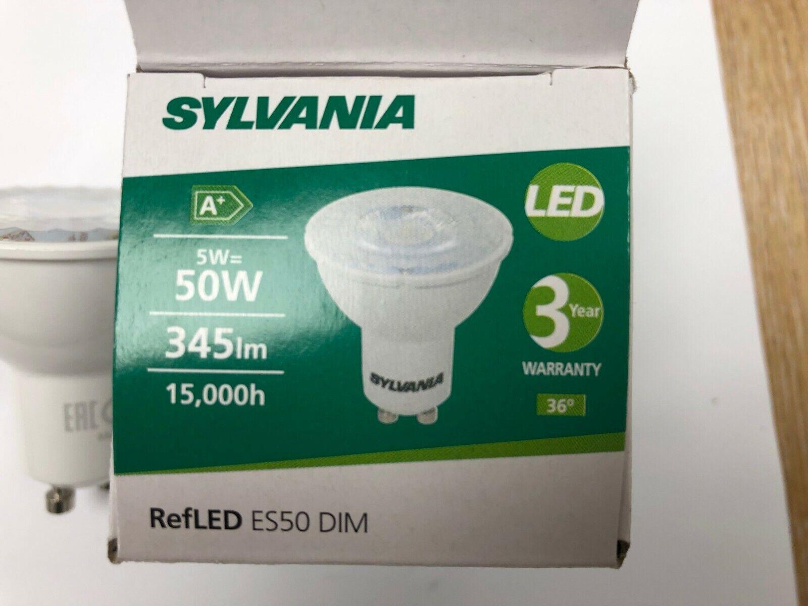 Envases de Sylvania LED GU10 5W Luz 5 vatios 345lm = 50W Bombilla Regulable