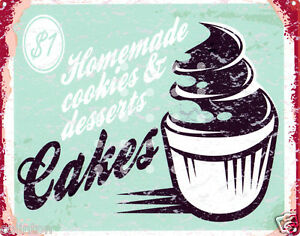 HOME-MADE-CAKES-BAKERY-SIGN-8x10in-pub-bar-shop-cafe-cup-cakes-diner-cake-shop