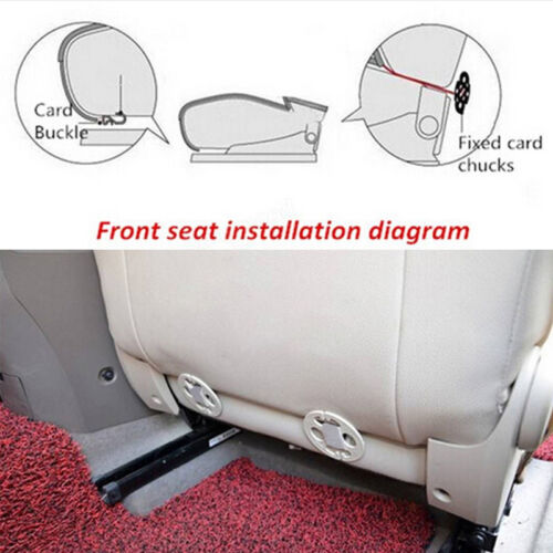 Breathable Luxery PU Leather Bamboo Car Seat Cover Pad Mat Auto Chair Cushion