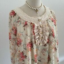LIZ LISA Blouse Top Flower Kawaii Japanese Gyaru Fashion #1286