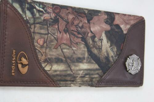 ZEP-PRO MALTESE CROSS Fireman MOSSY OAK Camo Leather /& Nylon WALLET TIN GIFT BOX