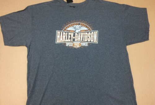 "Harley-Davidson Men/'s XL Gray short sleeve shirt /""burst/"""