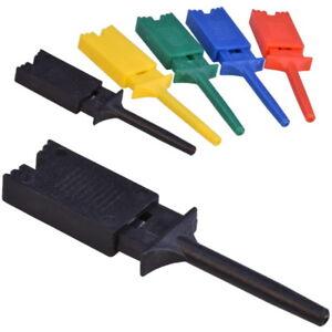 Mini-Grabber-SMD-IC-Test-Clip-Hook-Probe-Jumper-Klemmprufspitze-50mm-Schwarz-Rot
