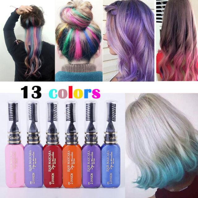 Disposable Color Hair Dye Mascara Hair Chalk Non-toxic Hair Dye Salon Model DIY