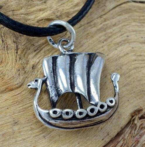 Vikingos-barco Boot cadenas-remolque real 925 plata barco de vela barco collar