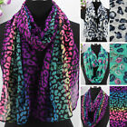 Fashion Women's Colorful Leopard/Lips Print Long Scarf Shawl/Infinity Scarf New