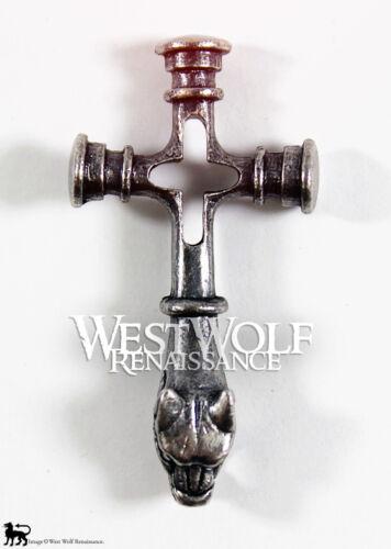 - Silver Viking Fenrir Wolf Cross Pendant Norse//Medieval//Jewelry//Ragnar//Skyrim