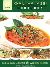Cookbook Real Thai Food Cooking in Western Kitchen Hardcover Large Print by Ann