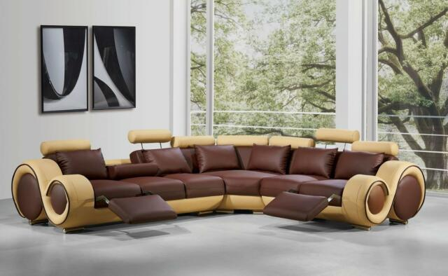 Vig furniture divani casa 4087 bonded leather sectional for Casa milano divani