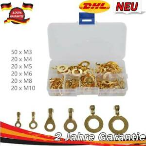 M5 4 Sorten M6 AS59 M8 Ringkabelschuhe als Set M4 20 Stück Sortiment