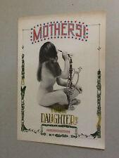 Vintage Head Shop Poster Mother Your Daughters Smoking Hookah Marijuana Naked